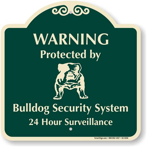 home security signs