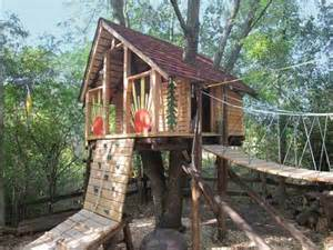 Backyard Treehouse Designs Tree Fort Obstacle Course After Best Yard Before And
