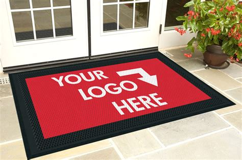 Custom Logo Rubber St by Cleanstep Impressions Scraping Entrance Logo Mat