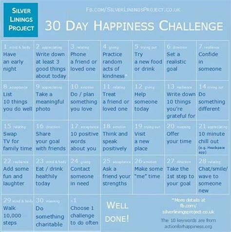 30 day positivity challenge my happiness tips and the happiness challenge the