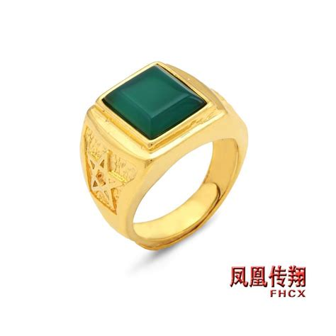 b017 s rings gold plated ring mens gemstone ring