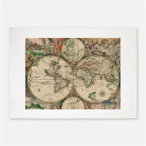 Antique Map Rugs Antique Map Area Rugs Indoor Outdoor Rugs World Map Rug