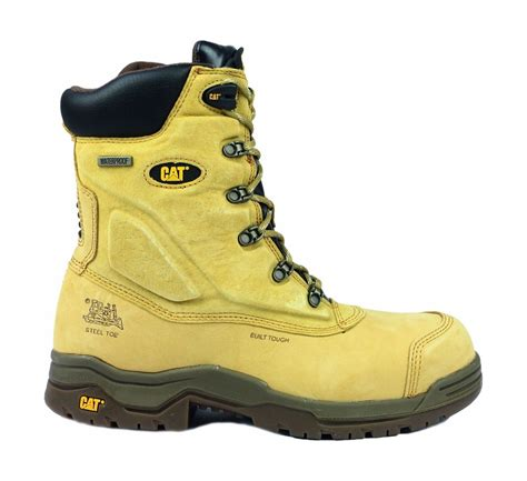 Caterpillar Safety Boots Size 39 43 caterpillar supremacy safety boots textile leather rubber phylon sole lace up ebay