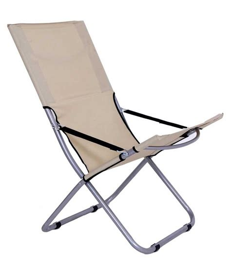 Easy Chair India by Folding Easy Chair In Beige Buy Folding Easy Chair In