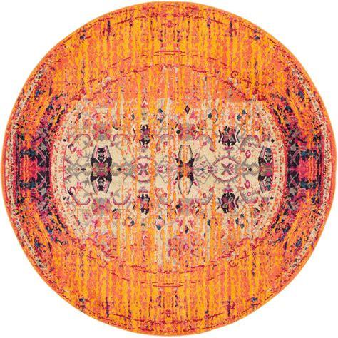 5 ft rug safavieh monaco orange multi 5 ft x 5 ft area rug