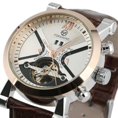 Ess Luxury Leather Automatic Mechanical Diskon other electronics ess mens automatic mechanical brown leather white luxury s
