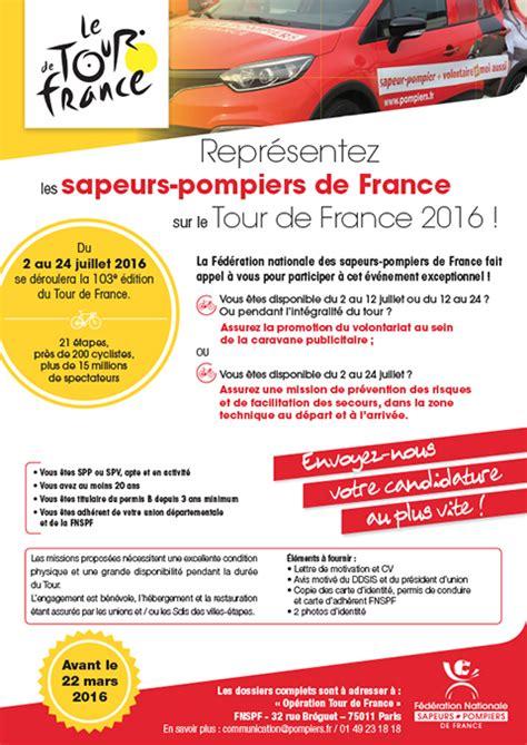 Mod Le Lettre De D Mission Pompier Volontaire tour de 2016 appel 224 candidature pompiers fr