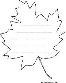 Leaf Shaped Writing Paper Leaf Writing Template With Lines Apps Directories