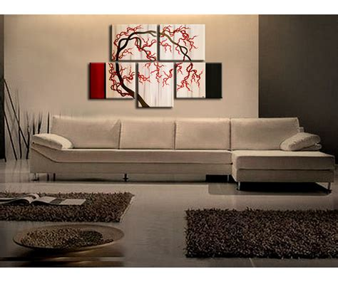 cherry home decor cherry blossom tree painting unique oriental zen asian style artwork contemporary wall art home