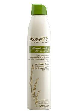 doccia spray spray idratante dopo doccia aveeno