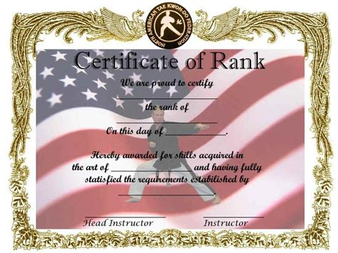 custom martial arts certificates template update234 com