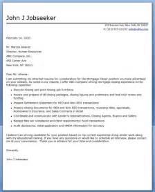 cover letter for mortgage closer resume downloads