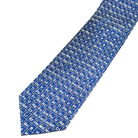 periodic table blue silk novelty tie from ties planet uk