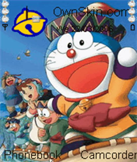 doraemon themes for nokia e5 doraemon mobile themes for nokia n gageqd