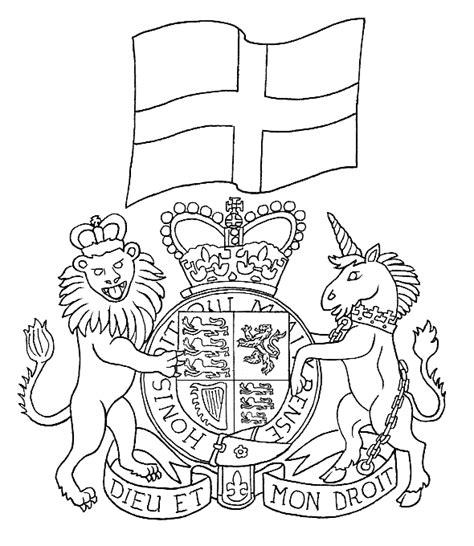 Coloring Page Motto Of British Monarchy Coloring Me