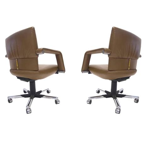 Vitra Office Desk Mario Bellini For Vitra Leather Swivel And Tilt Executive Desk Or Office Chair For Sale At 1stdibs