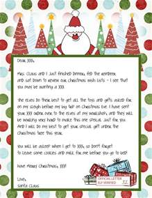 Free Letter From Santa Template Letter From Santa Template Free Search Results