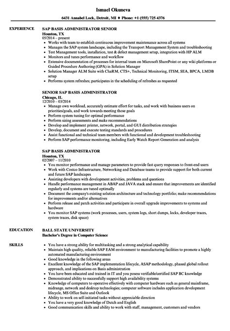 sap basis fresher resume format fresh amazing sap basis fresher