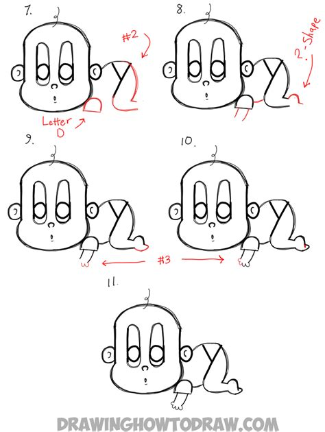 how to make a doodle name step by step how to draw a baby step by step easy www pixshark