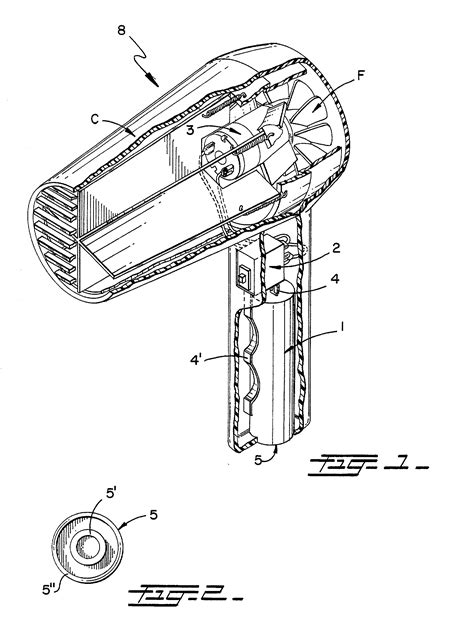 Hair Dryer How It Works patent us20020157276 cordless hairdryer patenti