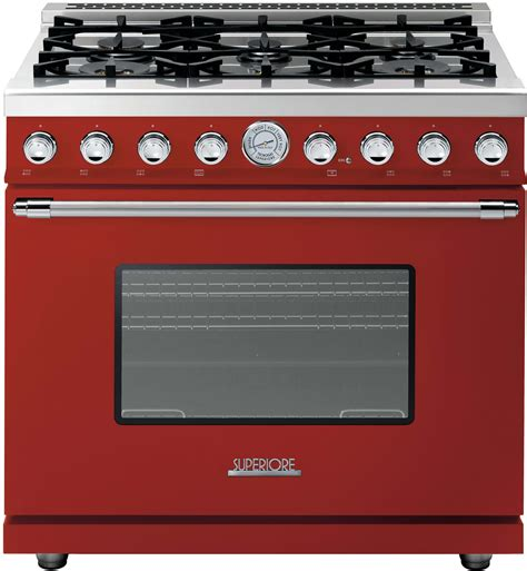 Oven Tecnogas superiore rd361gcrc 36 inch freestanding gas range with 6