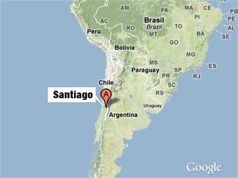 santiago chile on world map www maps santiago chile images frompo