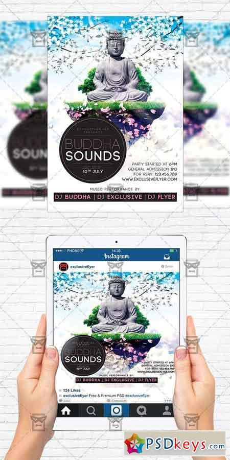 Buddha Sounds Flyer Template Instagram Size Flyer 187 Free Download Photoshop Vector Stock Instagram Flyer Template