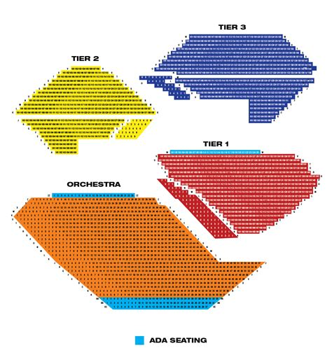 segerstrom seating chart segerstrom center for the arts theaters broadway in