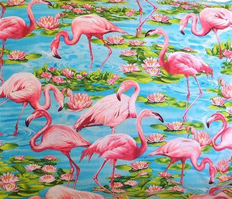 pink flamingo fabric cotton material timeless treasures