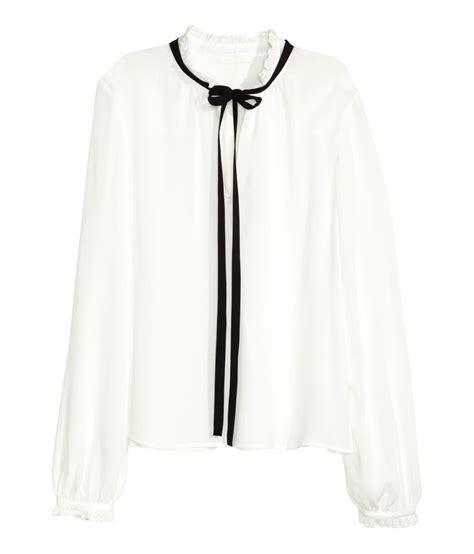 Fl Blouse ruffle sleeve blouse h m best blouse 2017