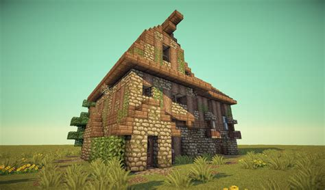 How To Build A Horse Barn In Minecraft Medieval Barn House Minecraft Project