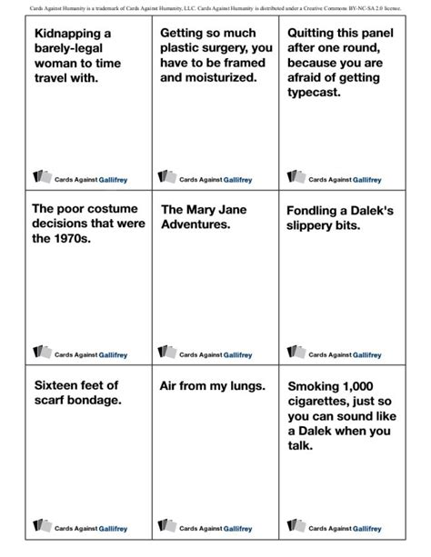 cards against humanity blank card template 17 best images about whovian stuff on steven