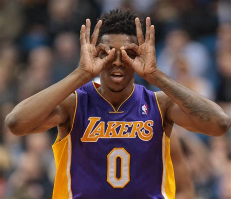 nick young espn anchor burned nick young again if he takes a shot at