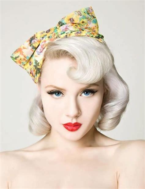 bandana with bob cut blonde vintage hair pinteres