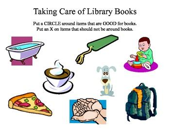 taking pictures of books library book care worksheet or smart board activity by the