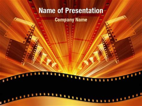 movie themed powerpoint template free hollywood powerpoint