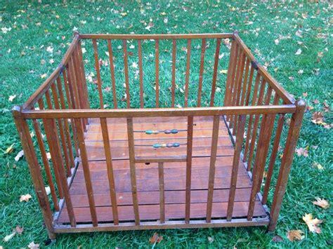 Wood Portable Crib by Vintage Wood Playpen Vintage Portable Crib Vintage