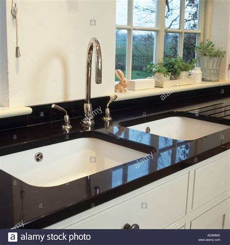 black kitchen sinks and taps white sinks and chrome taps in black granite