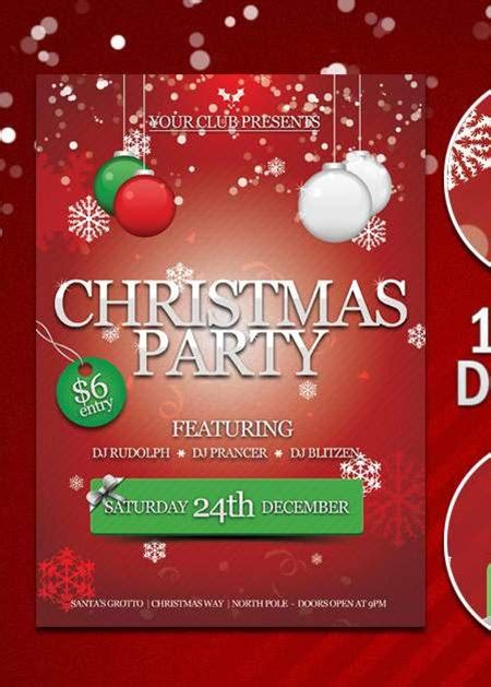 18 free christmas flyer design templates images