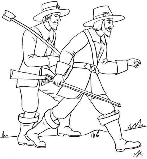 5 best images of pilgrim coloring pages printable