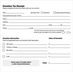 Tax Deductible Donation Letter Template by Sle Donation Receipt Template 17 Free Documents In