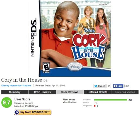 cory in the house ds metacritic says cory in the house ds is almost a perfect