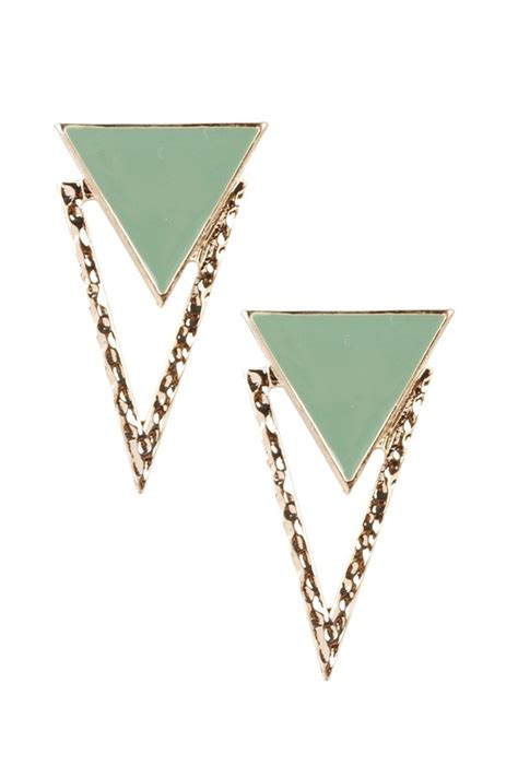 Triangle Stud triangle studs drop earrings products