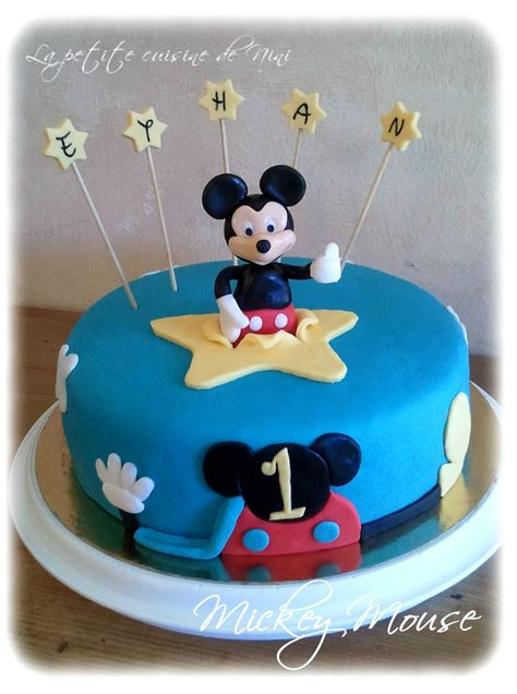 Decoration Gateau Anniversaire Mickey by G 226 Teau D Anniversaire Mickey La Cuisine De Nini