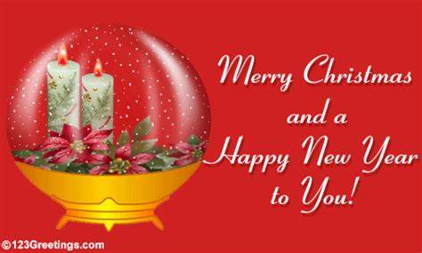 merry christmas  happy  year  warm wishes ecards