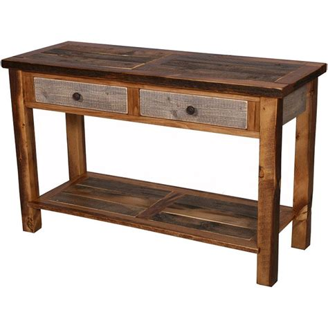 Rustic Console Table Adding The Rustic Console Table Into Your Home Interior Setup Wigandia Bedroom Collection