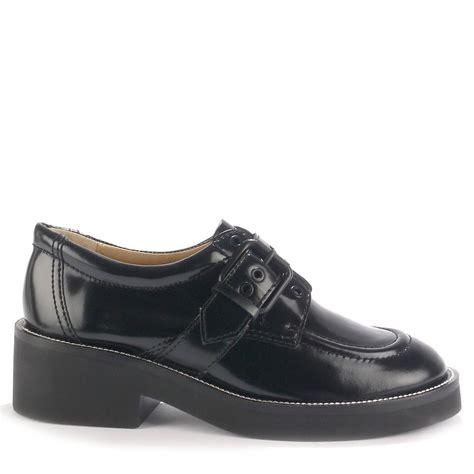ash shoes polished black leather
