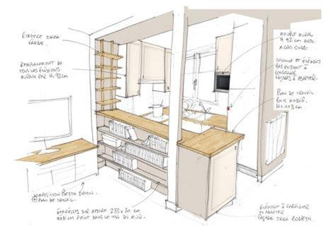 plans cuisine ouverte de duune cuisine ouverte croquis with plans
