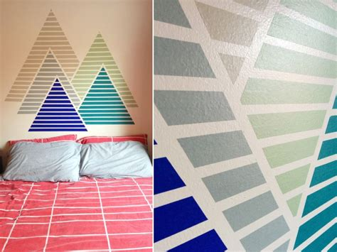 Wall Pattern Ideas With Tape | easy wall decorating ideas for renters