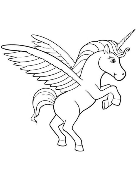 unicorn pegasus coloring pages coloring home
